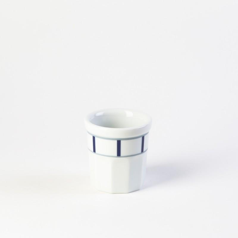 Moule à tarte en porcelaine basque de qualité - gris et bleu