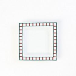 Assiette basque carrée...